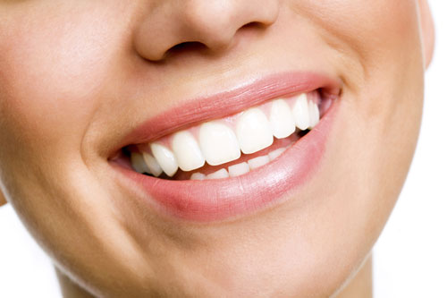 Smiling person with white teeth